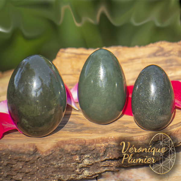 Set d'oeuf de yoni en Jade Néphrite